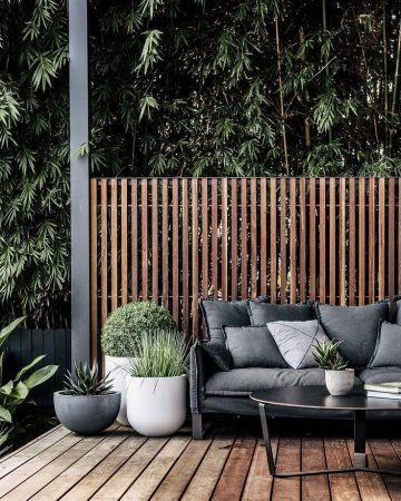 A modern view, the protection of Holzlastten, with dark furniture and plants in general...