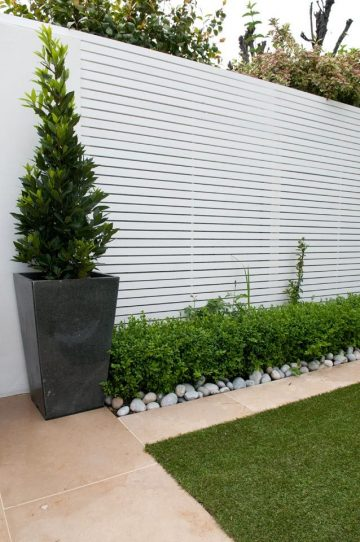 I like the rocks as a border for the garden. Maybe this would be the work around to the tr...