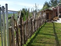 Natural beauty of the environment outside of the fence. Here, wood chips are used. S...
