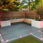 Maple wood fencing, with beds in slate gray... - #Beds #fencing #grey #Ma...