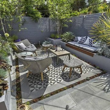 Private Small Garden Design ideas for this small south London, in the patio-garden and...